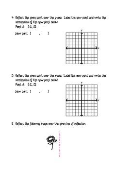 Basic Reflections - Homework