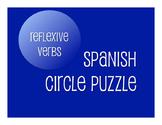 Spanish Reflexive Verb Circle Puzzle