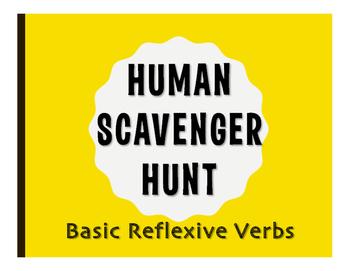 Spanish Reflexive Verb Human Scavenger Hunt
