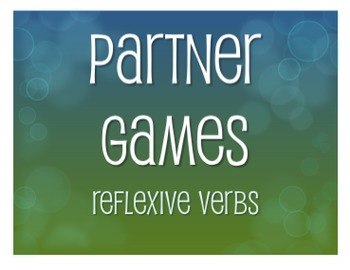 Spanish Reflexive Verb Partner Games