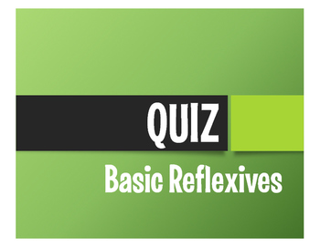 Spanish Reflexive Verb Quiz