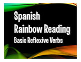 Spanish Reflexive Verb Rainbow Reading