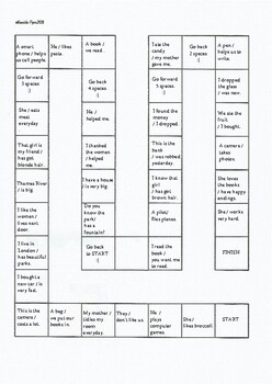 Basic Relative Clauses Boardgame
