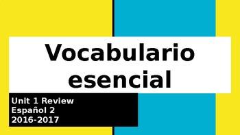 Basic Review for September - Spanish 2