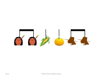 Basic Rhythm Pattern Flashcards: Fall, Halloween, Thanksgiving Theme: 1 Measure