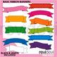 Basic Ribbon Banners Clip Art - Teacher Resource Clipart