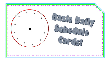 Basic Schedule Cards