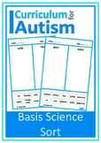 Basic Science Concepts Sort Autism Cut paste Motor Scissor Skills
