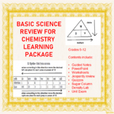 Basic Science Skills Review for Chemistry Learning Package (Bundle)