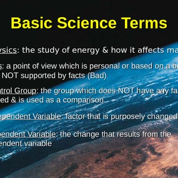 Basic Science Terminology