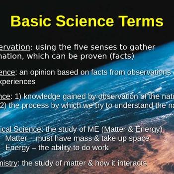 Basic Science Terminology