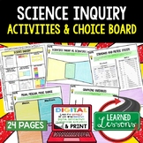 Basic Science and Inquiry Activities, Choice Board, Print & Digital, Google