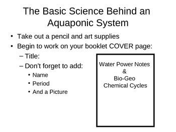 Basic Science of Aquaponics
