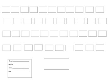 Basic Seating Chart for Music Classroom