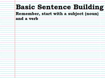 Basic Sentence Building Flipchart
