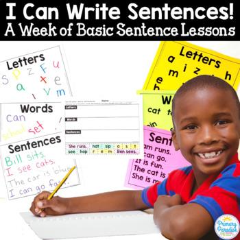 Basic Sentence Lessons: I Can Write Sentences