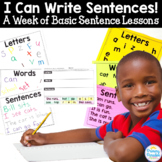 Basic Sentence Lessons: I Can Write Sentences