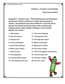 Sentence Writing- K and 1st Grade - Instruction & Worksheets for Practice