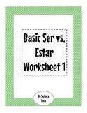 Basic Ser vs. Estar Worksheet 1
