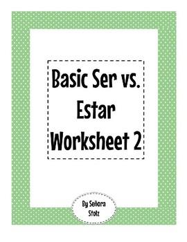 Basic Ser vs. Estar Worksheet 2