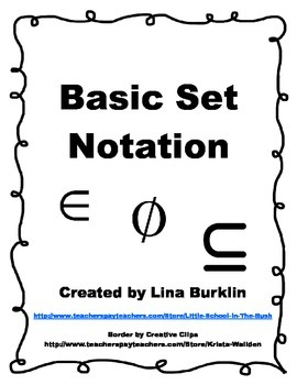 Basic Set Notation Poster and Foldable