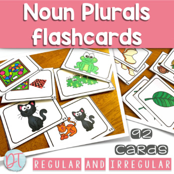 Regular and Irregular Noun Plural Flashcards