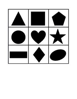 Basic Shape Bingo