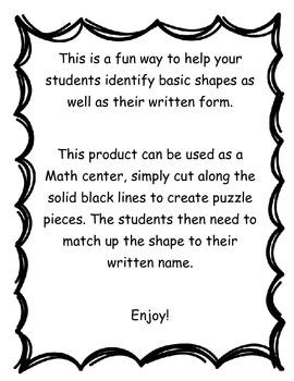 Basic Shape- Math Center
