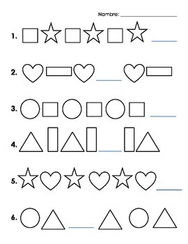 Basic Shape Pattern Worksheet