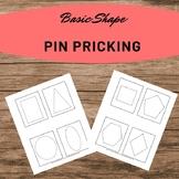 Basic Shape Pin Pricking Work Homeschooling Montessori Preschool