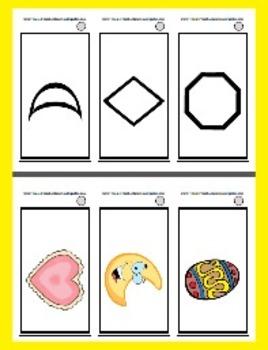 Basic Shape Ring Cards - 12 Shapes - Pre-K, Kindergarten & Life Skills Class