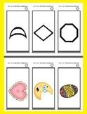 Basic Shape Ring Cards - 12 Shapes - Pre-K, Kindergarten &