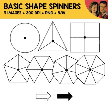 Basic Shape Spinners Clipart