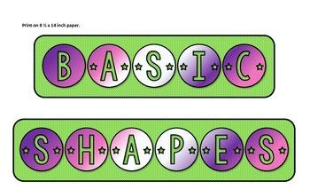 Basic Shapes Anchor Chart