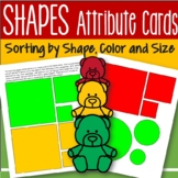 Shapes Attribute Cards and Sorting Mats - Squares, Circles