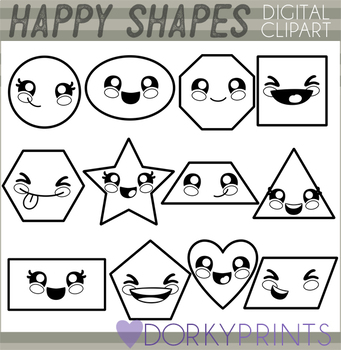 Basic Shapes Blackline Clipart