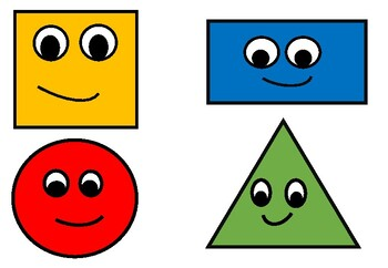image about Printable Shapes for Preschoolers titled Printable Styles Recreation