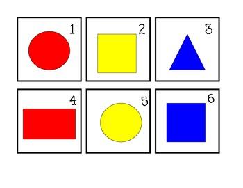 Basic Shapes Calendar Math Pattern