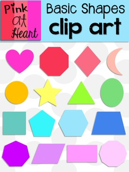 Basic Shapes Clip Art FREEBIE!