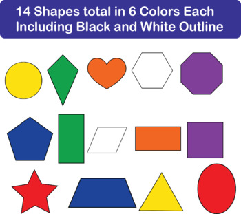 Basic Shapes Clipart W/andW/out Faces