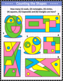 Basic Shapes Counting Visual Puzzle 2, Commercial Use Allowed