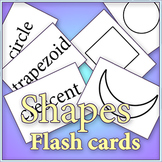 """Basic Shapes - Cut and color """"Early Learner"""" flash cards"""