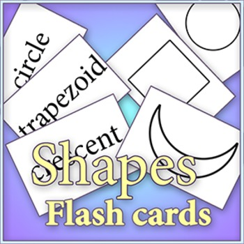 "Basic Shapes - Cut and color ""Early Learner"" flash cards"