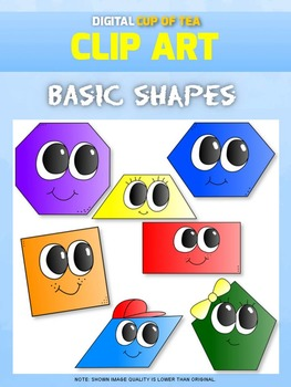 Basic Shapes: Digital Cup of Tea Clipart