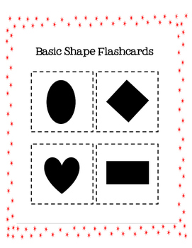 Basic Shapes Flashcards, Assessment and Data Sheet
