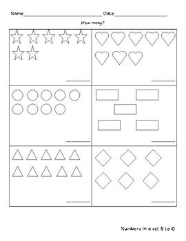 Basic Shapes Number Quantity 5-10