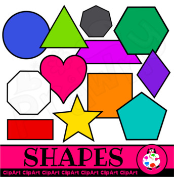 Basic Shapes & Polygons - Mega Clip Art Set