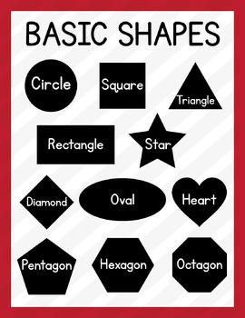 Basic Shapes Poster