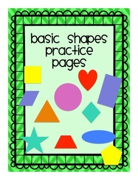Basic Shapes Practice Pages