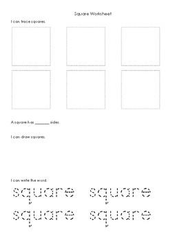 Basic Shapes Practice Worksheets